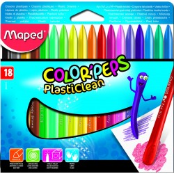 CERAS MAPED PLASTICLEAN 18 COLORES