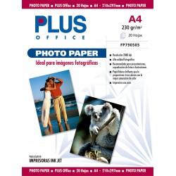 PAPEL PHOTO PLUS A4 INKJET 230GR/20H