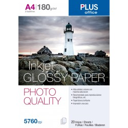 PAPEL PHOTO PLUS A4 GLOSSY 180GR/20H