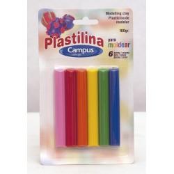 PLASTILINA CAMPUS 100 GR 6 COLORES