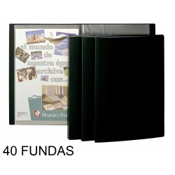 CARPETA FUNDAS PLUS FLEXIBLE 40F. NEGRA