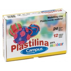 PLASTILINA CAMPUS PEQUEÑA 60GR P/24