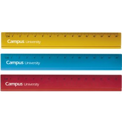REGLA METALICA CAMPUS 15 CM COLORES