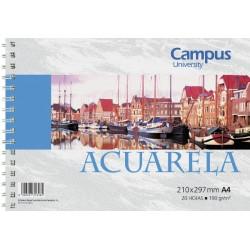BLOC ACUARELA CAMPUS A4 190G 20H