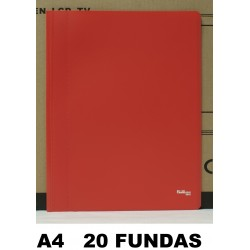 CARPETA FUNDAS PLUS a4 ECO FLEX.20F.ROJO