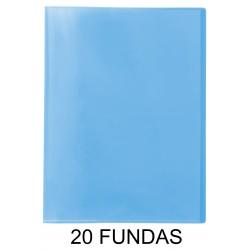 CARPETA FUNDAS PLUS A4 TRASLÚCIDA 20F.AZUL