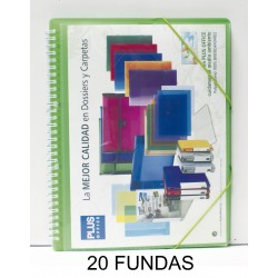 CARPETA FUNDAS PLUS ESPIRAL 20F.GOMAS