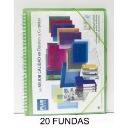 CARPETA FUNDAS PLUS ESPIRAL 20F.GOMAS