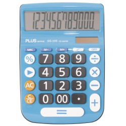 CALCULADORA PLUS SS-195 (3 COLORES)