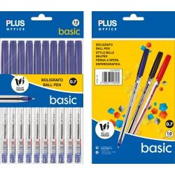 Bolígrafo PLUS +BASIC NEGRO