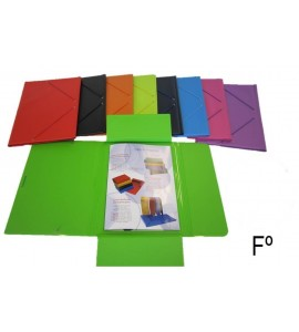 CARPETA SARO FOLIO SOLAPA PVC COLOR