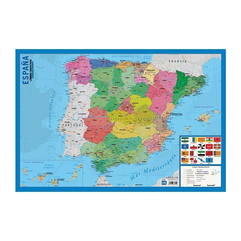 LÁMINA MAPA ESPAÑA 40X59,5CM