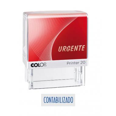 Sello Comercial Colop: CONTABILIZADO, Color Azul