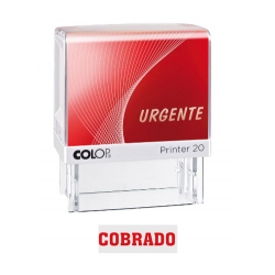Sello Comercial Colop: COBRADO, Color rojo