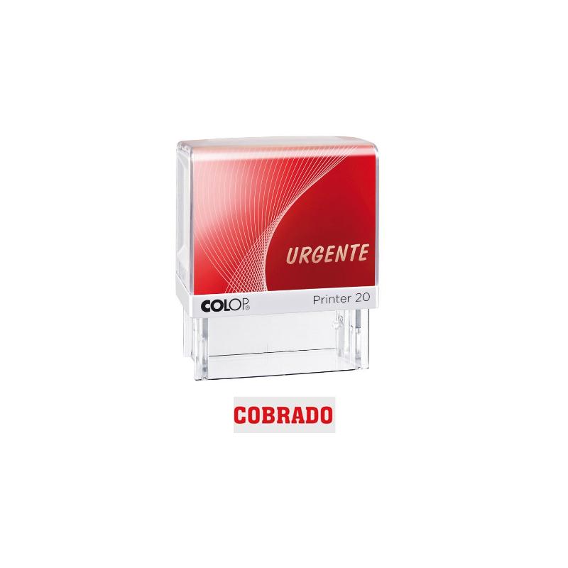 Sello Comercial Colop: COBRADO, Color rojo