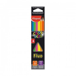 LAPIZ MAPED FLUO COLOR PEPS 6 COLORES