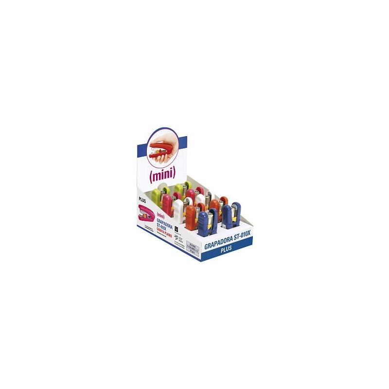 Grapadora Plus Japan Mini Expositor 10