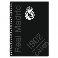 Bloc Tapa Forrada A4 Cuadro 5x5 Real Madrid