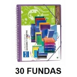CARPETA FUNDAS PLUS A4 ESPIRAL/GOMA.30F.VERDE