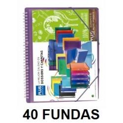 CARPETA FUNDAS PLUS ESPIRAL/GOMAS 40F.VIOLETA