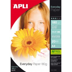 PAPEL PHOTO APLI A4 EVERYDAY 180GR/20H