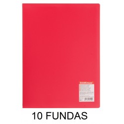 CARPETA FUNDAS A4 FLEXIBLE 10F.ROJA