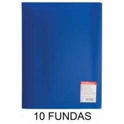 CARPETA FUNDAS A4 FLEXIBLE 10F.AZUL