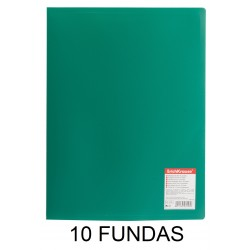 CARPETA FUNDAS A4 FLEXIBLE 10F.VERDE