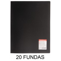 CARPETA FUNDAS A4 FLEXIBLE 20F.NEGRO