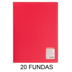 CARPETA FUNDAS A4 FLEXIBLE 20F.ROJA