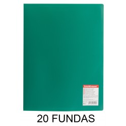 CARPETA FUNDAS A4 FLEXIBLE 20F.VERDE