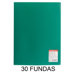 CARPETA FUNDAS A4 FLEXIBLE 30F.VERDE