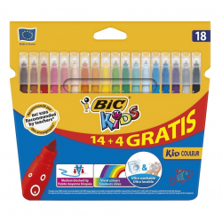 ROTULADOR BIC KIDS 14+4 COLORES