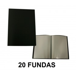 CARPETA FUNDAS A4 FLEXIBLE 20F. NEGRA