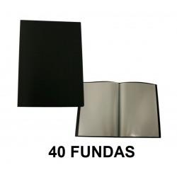 CARPETA FUNDAS A4 FLEXIBLE 40F. NEGRA