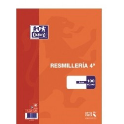 PAPEL 4º 90GR LISO OXFORD 100H
