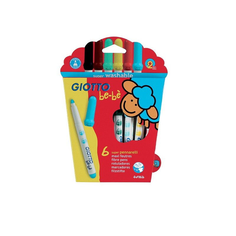 Bebe Rotulador Giotto 6 Colores