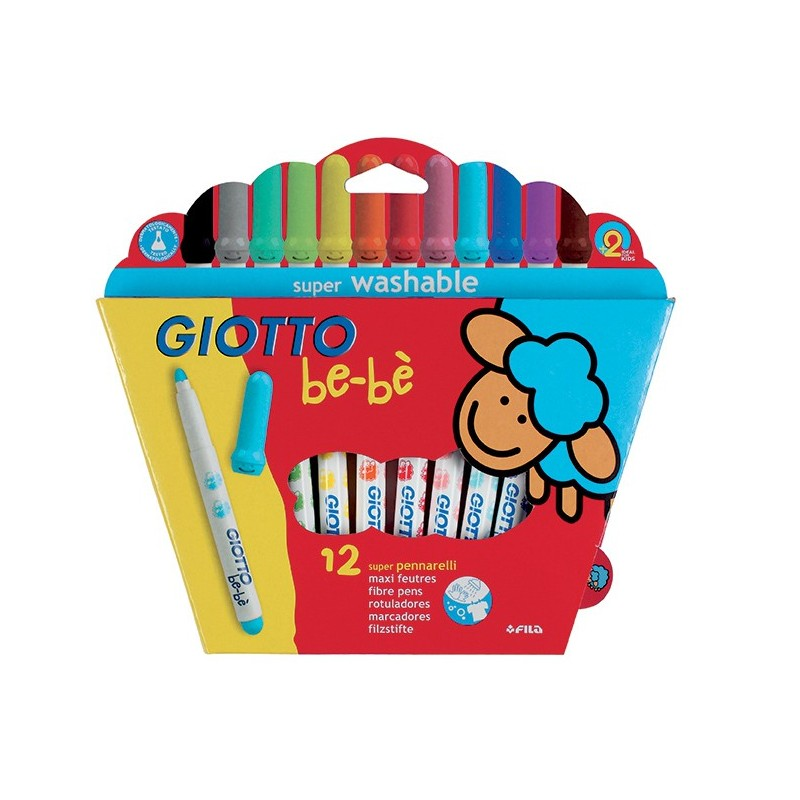 Bebe Rotulador Giotto 12 Colores