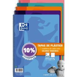 BLOC OXFORD Fº 80H 4X4 TAPA PLASTICO TENDENCIAS