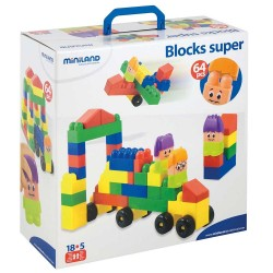 JUEGO EDUCATIVO MINILAND S.BLOCKS 18CM/64P