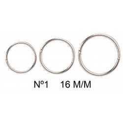 Anillas metálicas 16mm