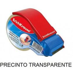 CINTA PRECINTO TRANSPARENTE 50MT + PORTARROLLO
