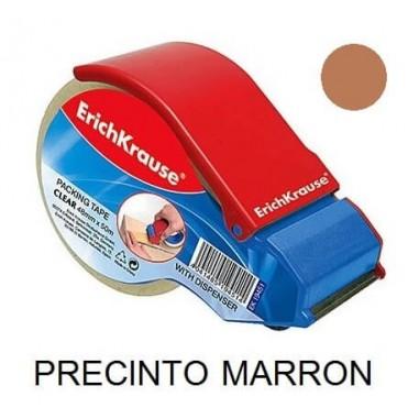 CINTA PRECINTO MARRON  50MT + PORTARROLLO