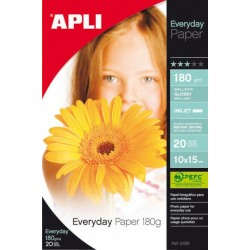 PAPEL PHOTO APLI 10x15 EVERYDAY 180GR/20H