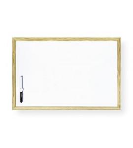 Pizarra blanca marco madera 40x60cm