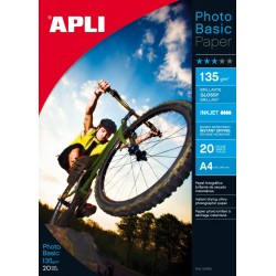 PAPEL PHOTO APLI A4 GLOSSY 135GR/20H