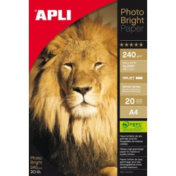 PAPEL PHOTO APLI A4 GLOSSY 240GR/20H