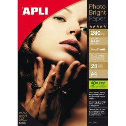 PAPEL PHOTO APLI A4 GLOSSY 280GR/25H