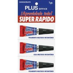 Pegamento Super Rápido Plus 1gr. Blister 3ud