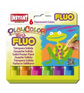 Témpera Playcolor One Fluo 6 colores